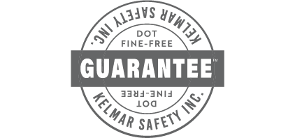 KELMAR Safety DOT Fine-free Guarantee logo